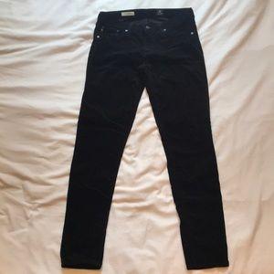 Ag Adriano Goldschmied Velvet Legging Skinny Black